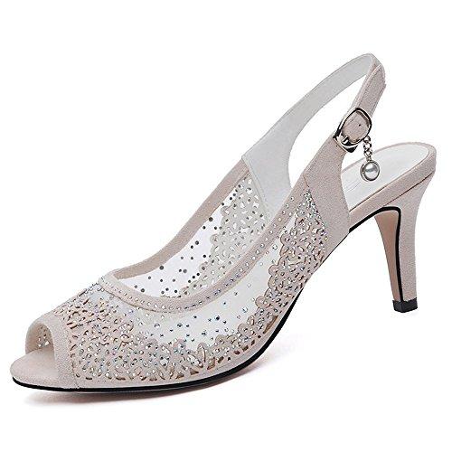 hebilla Zapatos sandalias A cómodo PU Chanclas mujer Casual Soles de ligeros baja MEIDUO talones para verano Primavera EPwn5qRAW