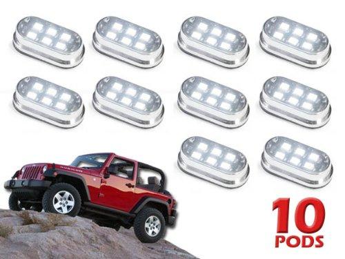 10 Pod 60 LED 4x4 Off Road Vehicle Rock Fender Light Kit
