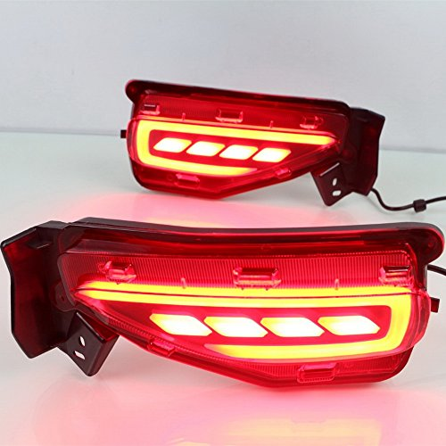 July King LED Light Guide Brake Lights Night Driving Lights Turn Signal Light for Toyota Fortuner 2016 2017 2018, Safety Warning Light