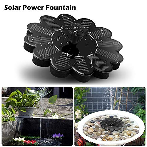 JUST N1 Solar Powered Fountain Sprinkler Floating Panel Pool Garden Landscape Pond Watering Kit Filter Outdoor Bird Bath Decoration