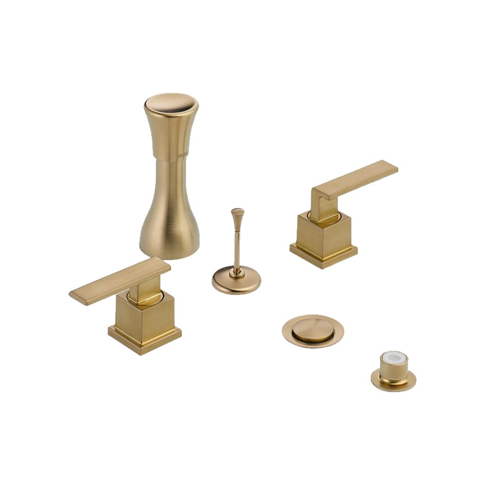 Delta Delta KBDVE-D-44H253-CZ Classic Bidet Fitting Kit Deck-Mounted Vertical Spray with Vero Metal Lever Handles, Champagne Bronze Champagne Bronze by Delta