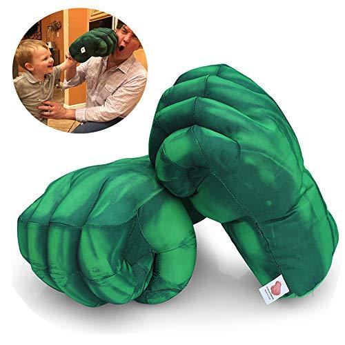 XZPP Kids Boxing Gloves, 1 Pair The Hulk Smash Hands Fists Big Soft Plush Costume Cosplay Superhero Toys Training Gloves for Children Kids, Teens, Girls Boys Birthday (Green)]()
