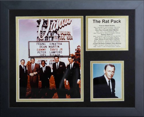 Legends Never Die The Rat Pack Framed Photo Collage, 11 by (Rat Pack Framed)