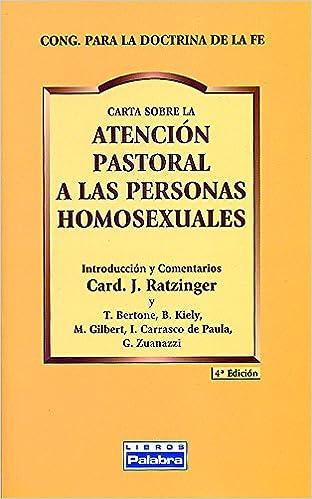 Atencion Pastoral a personas Homosexuale Libros Palabra: Amazon.es: Congregación para la Doctrina de la Fe: Libros