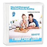 Benste Waterproof Mattress Protector, Cotton Smooth-Soft,Noiseless,Full Size,Hypoallergenic Mattress Cover.