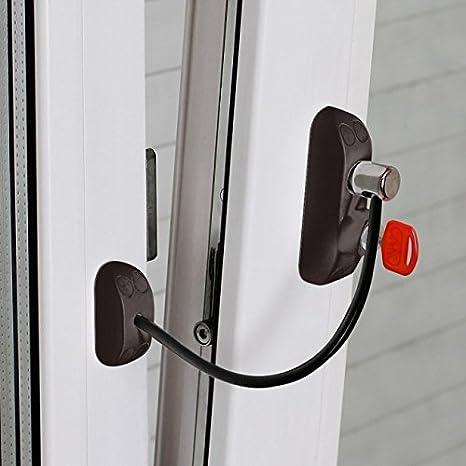 Bsl CABLE PRIME - Cerradura de Protección para Puertas y Ventanas (Color: Marrón)