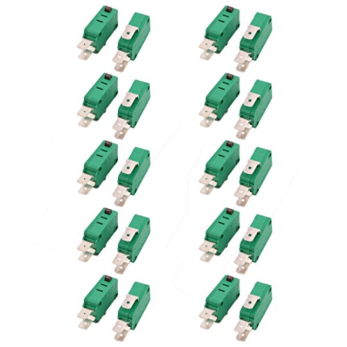 uxcell 20Pcs KW3-0Z AC 125/250V 16A SPDT Short Hinge Roller Lever Momentary Micro Switch (Kw3 Switch)