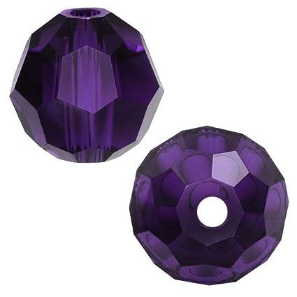 cbbb067ba Amazon.com: 100pcs 8mm Adabele Austrian Round Crystal Beads Purple Velvet  Compatible with 5000 Swarovski Crystals Preciosa SS2R-827: Everything Else