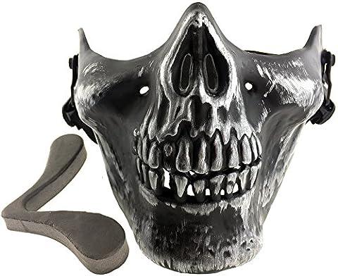 SportPro M03 Skull Skeleton Half Face Mask for Airsoft - Iron