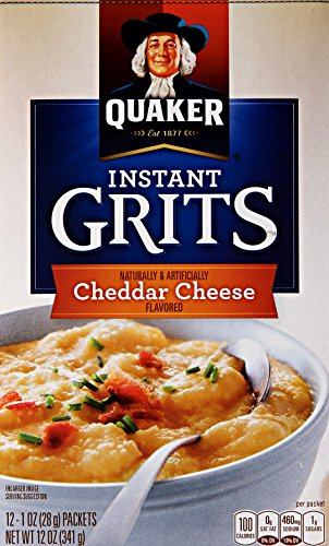 Quaker Instant Grits Cheddar Cheese, 12 ct