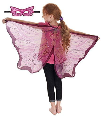 [Douglas Toys Dreamy Dress-Ups 50582 Pink Fairy Wings and Matching Mask] (Dress Up Fairy Wings)