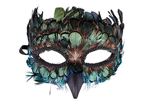 Western Fashion Peacock Feather Masquerade Mask -