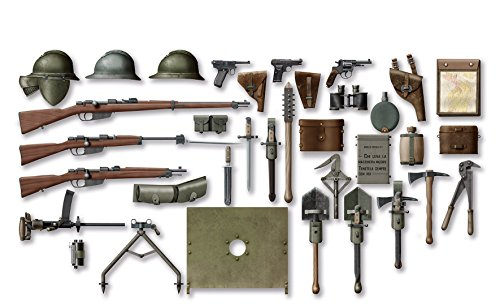 ICM Models WWI Italian Infantry Weapon and Equipment Model Kit (Best Weapons Of Ww1)