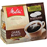 Melitta Coffee Pods for Senseo and Hamilton Beach Pod Brewers, Dark Roast , 4.44-Ounce,(Pack of 6)