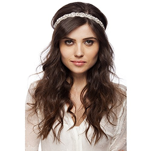 Bebo Accessories Women's Beautiful Handmade Beaded High Class Elastic Headband One Size Multicolored
