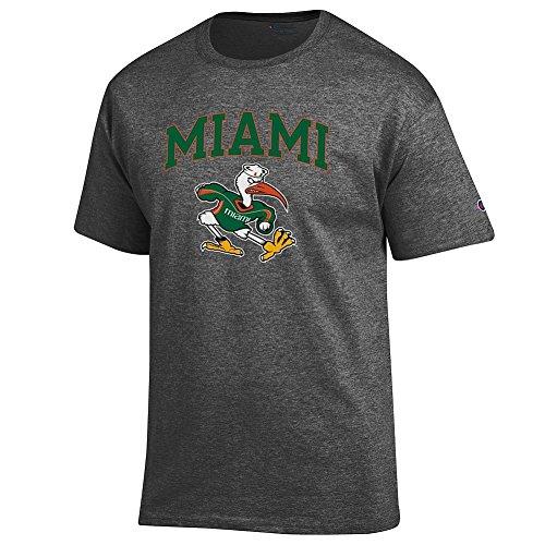 Miami Hurricanes TShirt Icon Charcoal - L Miami Canes