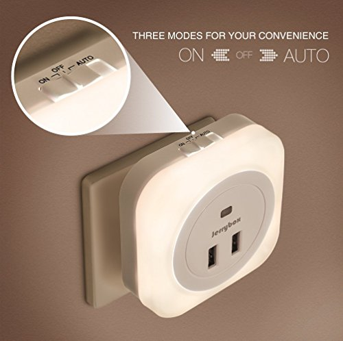 Jerrybox LED Night Light Plug-and-Play Automatic Wall Lights - Import It All