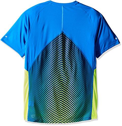 Puma Kører Mænds Grafiske T-shirt (514.352) Elektrisk Blå Limonade / Grafisk Sort Panel AM44RLO