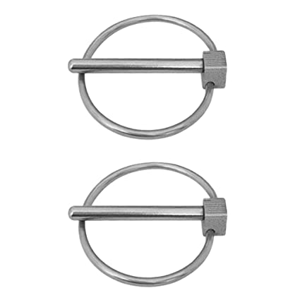 uxcell Linch Pin with Ring 11mm X 54mm Trailer Pins Assortment Kit for Boat Kayak Canoe Trailer Tractor Trolley Horsebox 2Pcs