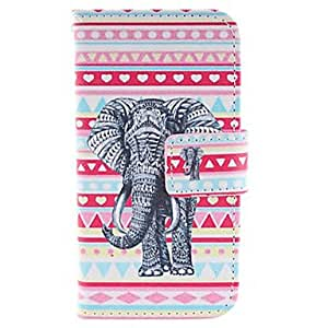 LCJ The Elephant Design PU Leather Full Body Protective Case with Stand for Samsung Galaxy S4 Mini I9190 , Rose