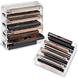 byAlegory Acrylic Medium Eyeshadow Palette Makeup Organizer W/ Removable Dividers Designed To Stand & Lay Flat | 8 Space Organization Container Storage - Fits Standard Size Palettes - Clear