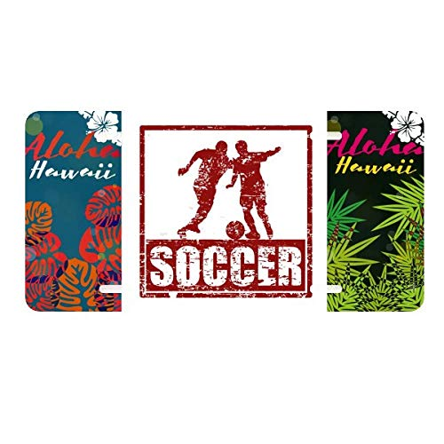 DIYthinker Red Football Player Grab Football License Plate Car Decoration Hawaii USA America - Universal Decorative Grab Bar