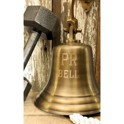 PR (Personal Record) Engraved Brass Bell by BHI