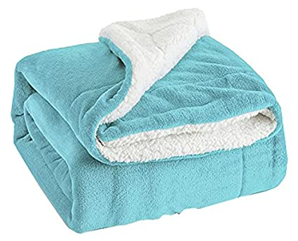 Throw Blankets Cool Amazon Bedsure Sherpa Throw Blanket Lt Blue Twin Size