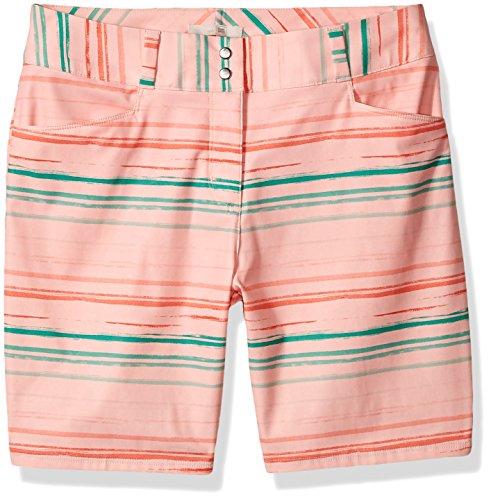 adidas Golf Women's Essentials Painted Stripe Shorts, Haze Coral, Size 10 Woven Haze Stripes