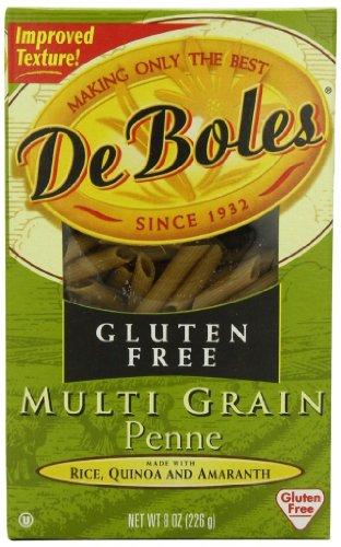 DeBoles Gluten Free Multi Grain Penne Pasta, 8 Ounce