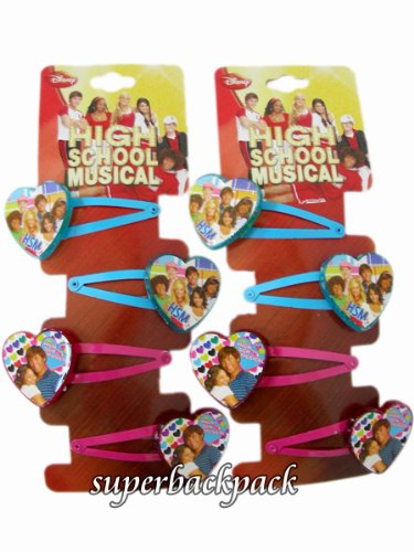 Disney High School Musical Blue and Pink Hair Clips 2 -