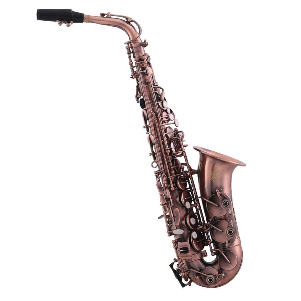 サックス サックス Eフラットプロフェッショナル演奏サックス Ebチューンサックスサックスレッド古代風初心者リード付きハンドバッグ (Color : Brass, Size : 66*12cm) 66*12cm Brass B07TP5F5KY