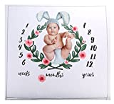 personalized baby blanke - Baby Milestone Blanket,Mermaker Personality Photography Props,Record Funny Childhood for Your Child