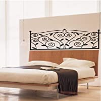 Black PVC Headboard Kids Room Art Mural Wall Sticker Decal Decor