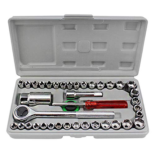 Steel 40-piece Car And Motorcycle Wrench, Ratchet Wrench Soc