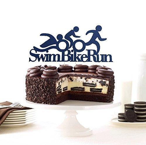 Athlete Cake Topper Triathlon Cake Topper Triathlon Swim Bike Run Topper Triathlon Decoration Winner Topper Ironman Cake Topper Runner