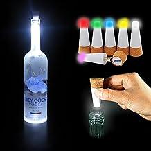 6 Packs of Wine Bottle Lights, BOBBY's LED Cork Lights for Bottle, Rechargeable USB lights for DIY, Party, Decor, Christmas, Halloween, Wedding