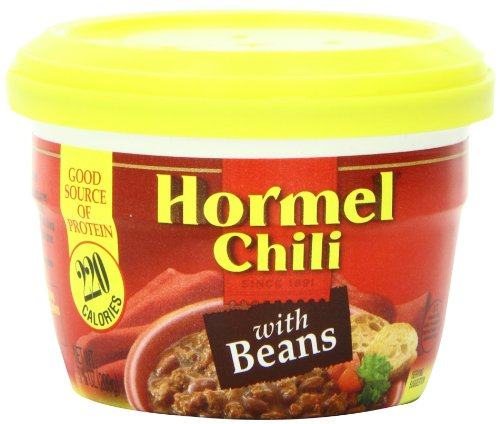 Hormel Micro Cup Chili with Beans, 7.38 Ounce 12 pack (Chili)