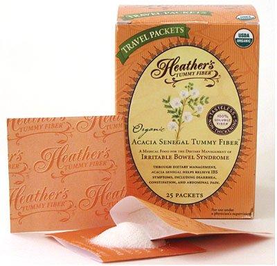 Tummy fibre de Heather Acacia Sénégal organique paquets Voyage (1 Box) pour IBS
