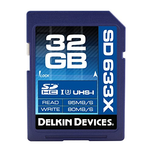 Delkin 32 GB Elite 633X SDHC UHS-I Memory Card (DDSDELITE633-32GB) Delkin Devices Secure Digital Card