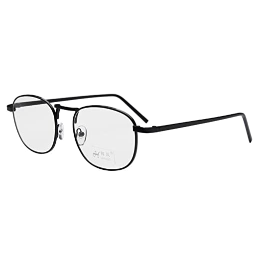 328b0410991 Simvey Unisex Classic Retro Vintage Small Square Clear Lens Eyeglasses  Metal Glasses Frame