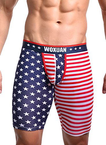 Flag Running Shorts (Men¡¯s American Flag Compression Shorts Running Workout Gym Yoga Workout Tight Shorts (Size,XL))