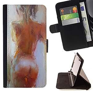 Momo Phone Case / Flip Funda de Cuero Case Cover - Art Act Woman Naked Oil - Sony Xperia Z1 L39