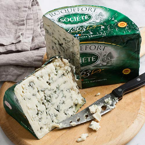 (Roquefort AOP Societe Bee - Whole Foiled Half Moon (3 pound) )