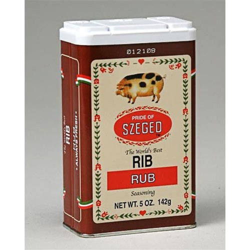 Szeged Seasoning Rib Rub, 5 Ounce Tin (Tin Rub)