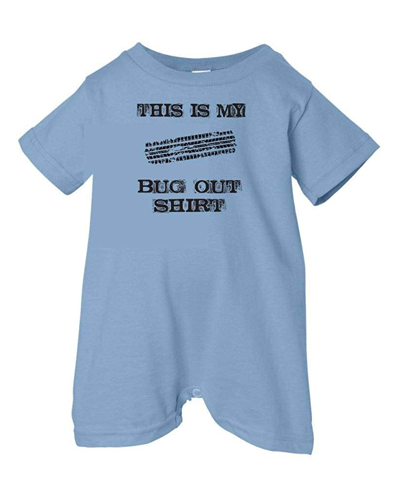 Zombie Underground Unisex Baby This Is My Bug Out Shirt T-Shirt Romper Lt. Blue, 12 Months