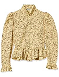 Grace Button-up Blouse with Peplum and Puff Sleeves