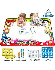 FishOaky Wasser Zeichnung Matte, 86*57cm Wiederverwendbare Aqua Magic Doodle Matte Pädagogisches Geschenk Spielzeug für Kinder Baby Toddler