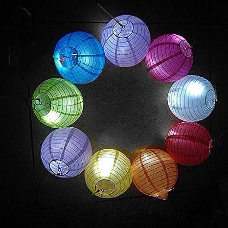 Meisax 10 St/ücke Papier Laterne Lampions 10 rund Lampenschirm Dekoration Papierlaterne f/ür Hochzeit Freier Geburtstag Party Garten orange 25 cm