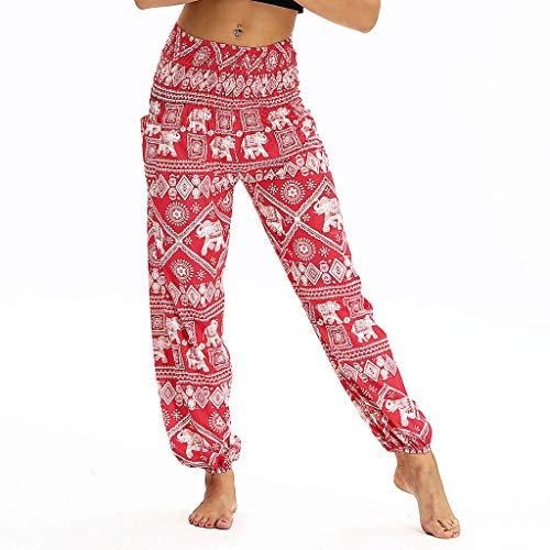 - Women Pajamas Pants High Waisted Wide Leg Palazzo Drawstring Trousers Casual Cropped Harem Beam Foot Loose Yoga Shorts Red